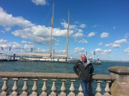 Chris at Cowes
