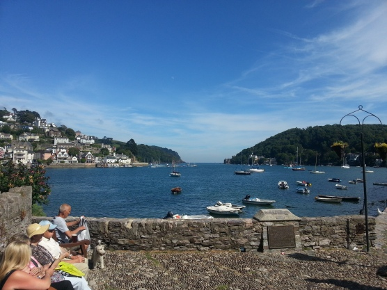 Looking down the River Dart from the Dartmouth Arms