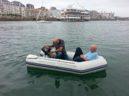 On our way to the Santander Yacht Club