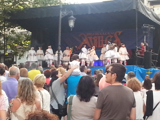 Folk festival, Aviles. Men in Tutus!