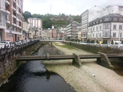 Almost dry river in Luarca