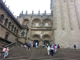 Views of the Cathedral of St Iago de Compostella