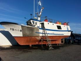 Fishing boat ashore Camarinas