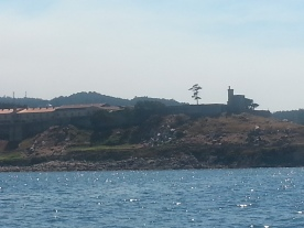 Island on route to Baiona