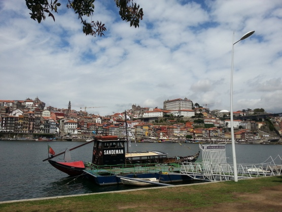 Old Porto from the East side of the River Douro