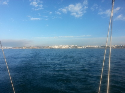 Albufeira from 4 Miles Offshore