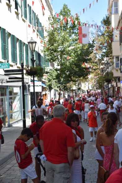 Main Street, Gibraltar National Day