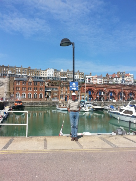 Chris in beautiful weather at Ramsgate