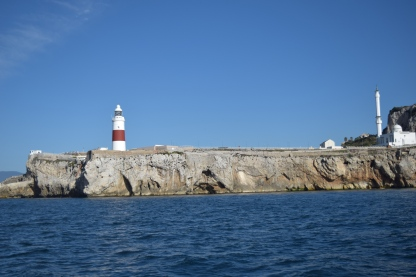 Passing Europa Point, Gibraltar