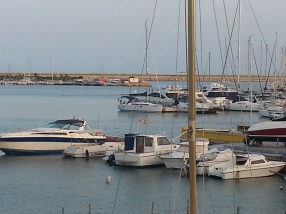 Synergy moored at Torrevieja