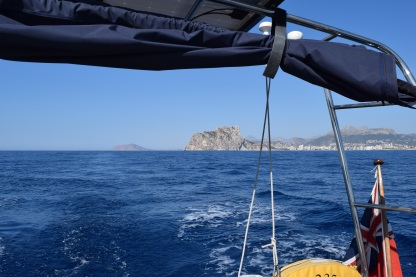 Calpe behind us heading for Menorca