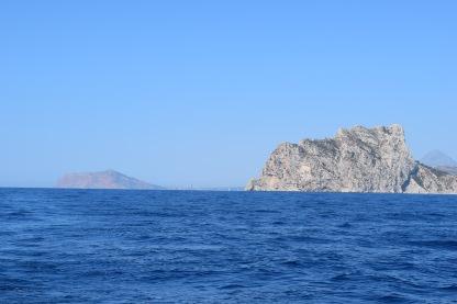 Calpe behind us heading for Menorca