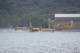 Water Bomber Taking Off
