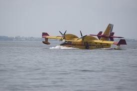 Water Bomber Landing